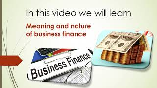 what is business finance in hindi || business finance meaning nature definition and scope