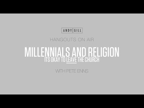 Interview With Pete Enns - Millennials and Religion