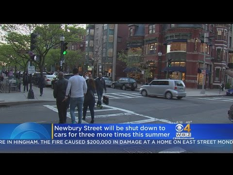 Newbury Street To Be Shut Down To Cars 3 Times This Summer