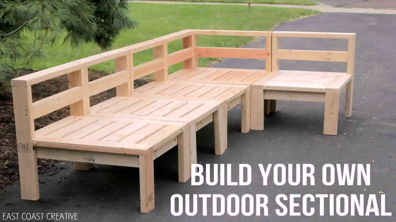 Outdoor Wood Sectional Sofa Plans Youtube