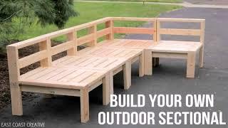 Outdoor Wood Sectional Sofa Plans (see description) (see description)
