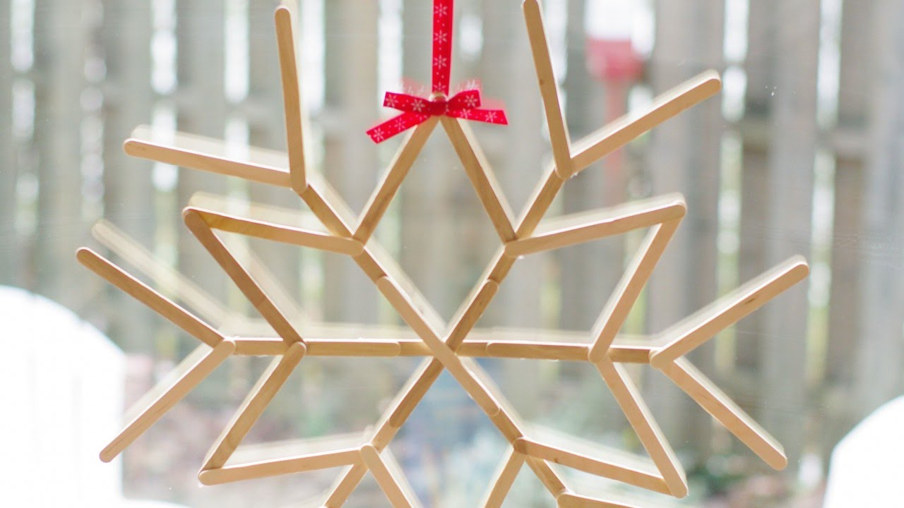 Make A Cool Craft Stick Snowflake