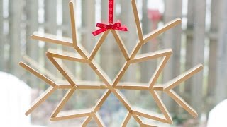 Make A Cool Craft Stick Snowflake - Diy Crafts - Guidecentral