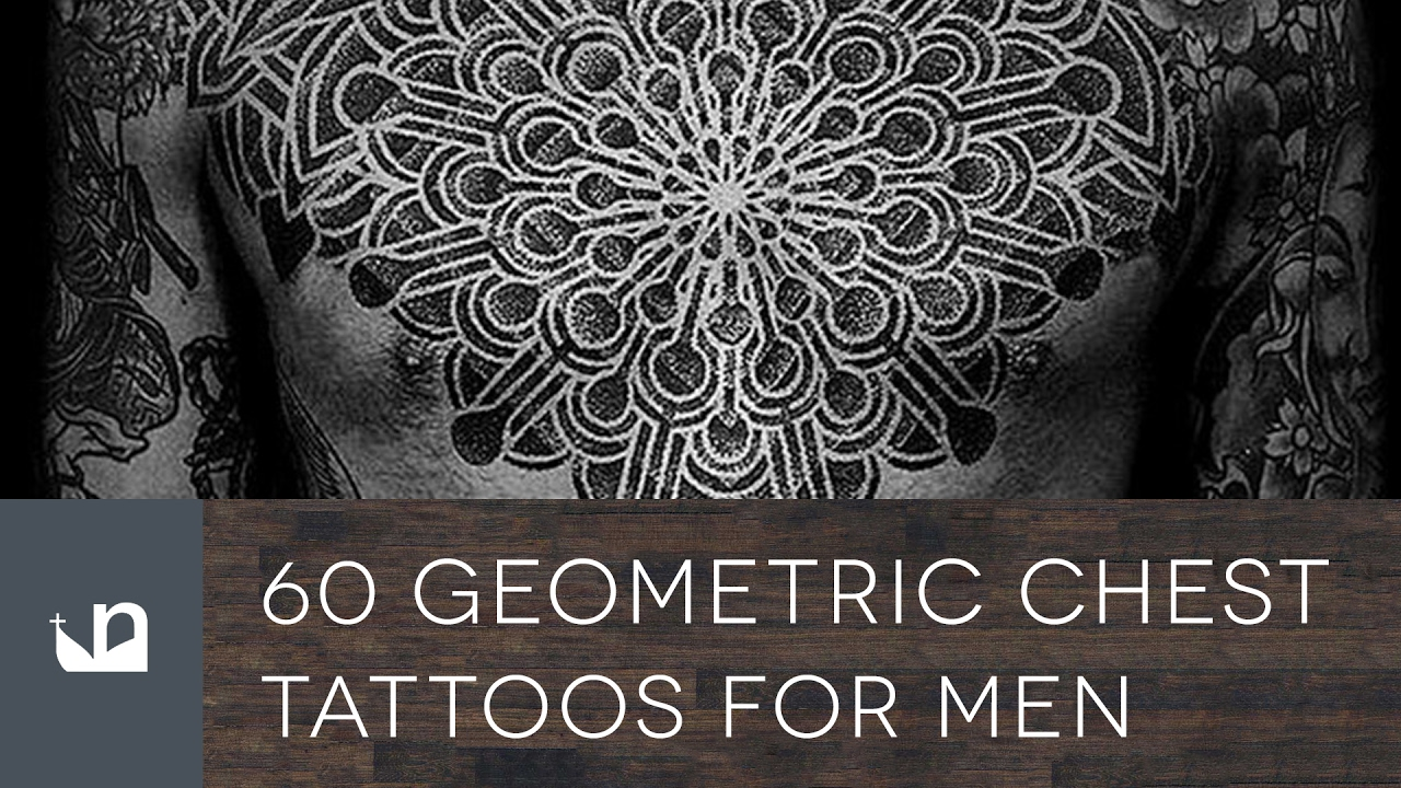60 Geometric Chest Tattoos For Men – Upper Body Design Ideas