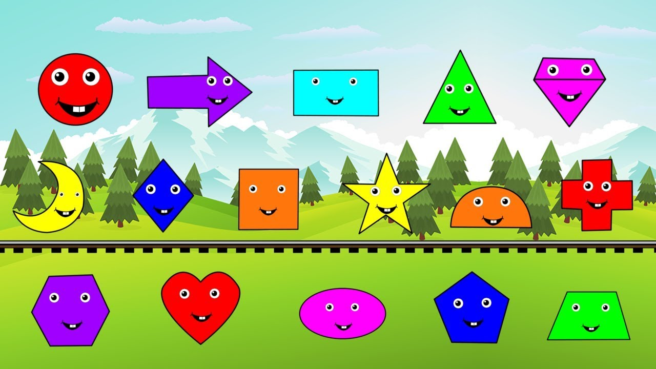 Learn Shapes And Colors With Shawn The Train Race Fun Monster Trucks ...