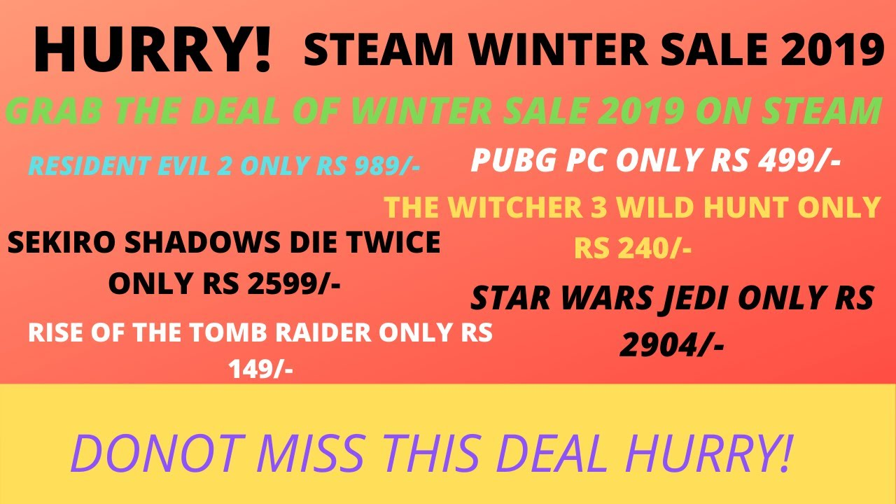 steam winter sale 2019 pc games price in 2019 pc games. Black Bedroom Furniture Sets. Home Design Ideas