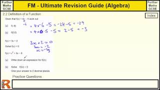 Using Functions - Ultimate revision guide for Further maths GCSE