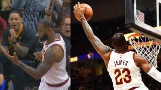 LeBron James CAN'T BELIEVE HIS OWN DUNK & Passes Larry Bird in Triple-Doubles!