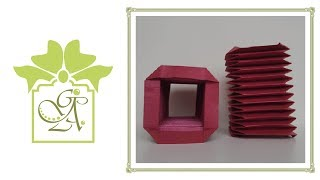 Square Bellows Fold or Accordion Fold. (Card Folding Tutorial)