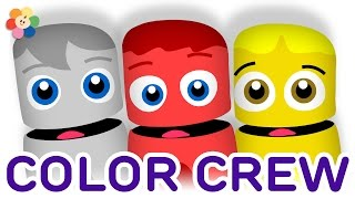 Color Collection 1: White, Red, Yellow | Learning Colors Lesson for Kids | Color Crew | BabyFirst