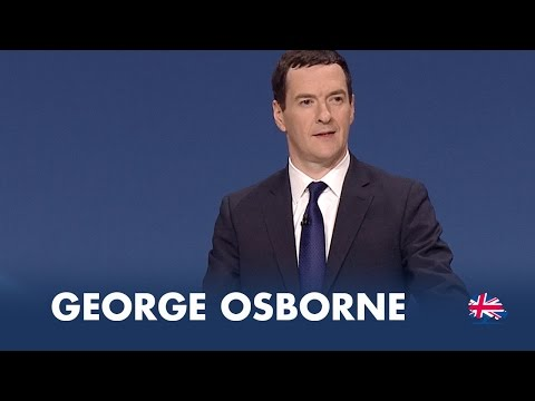 George Osborne: Speech to Conservative Party Conference 2014