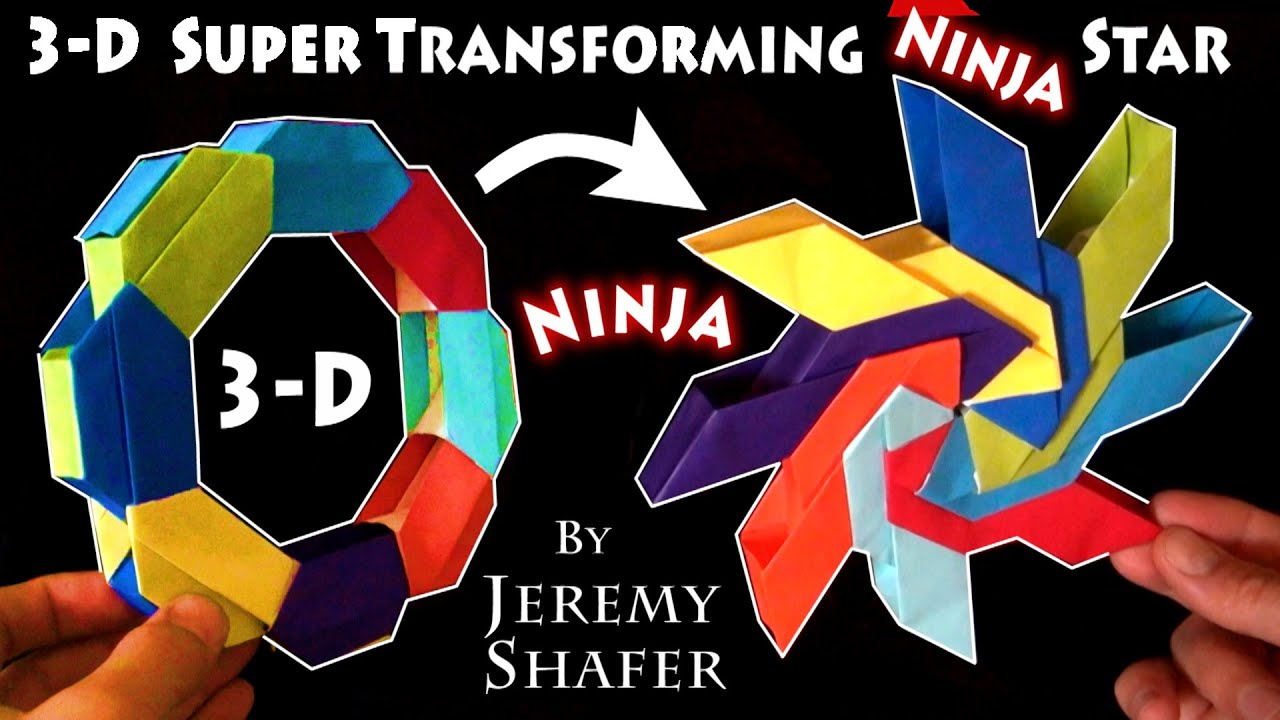 3-D Super Transforming Ninja Star - YouTube - photo#18