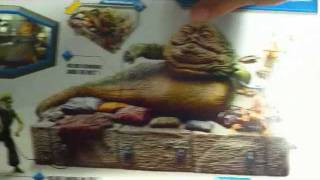 Wal-mart Exclusive Star Wars Jabba The Hutt: Jabba's Throne With Oola