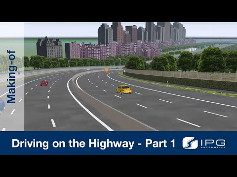 Making-of: CarMaker – Driving on the highway – Part 1/4