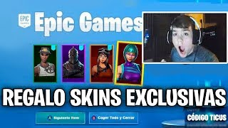 I try to GIVE EXCLUSIVE SKINS to FORTnite STREAMERS and they tell me this...