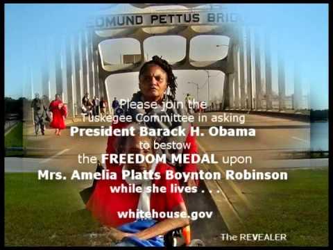 Presidental Freedom Medal for Amelia Boynton Robinson: PLEASE