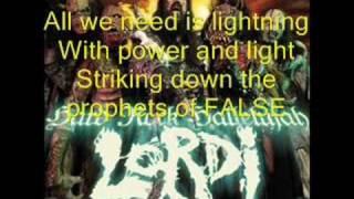 Lordi - Hard Rock Hallelujah (lyrics)