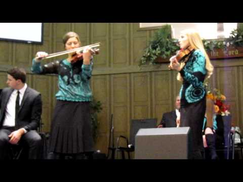 The Collingsworth Family  The Prayer  Violin Duet  Brooklyn & Courtney