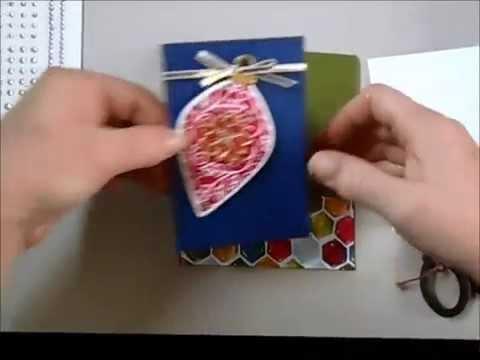 Jewel tone Ornament Card