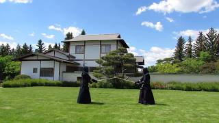 Kyle Lee Kendo Demonstration at Nikka Yuko Japanese Garden, Lethbridge Alberta Canada.