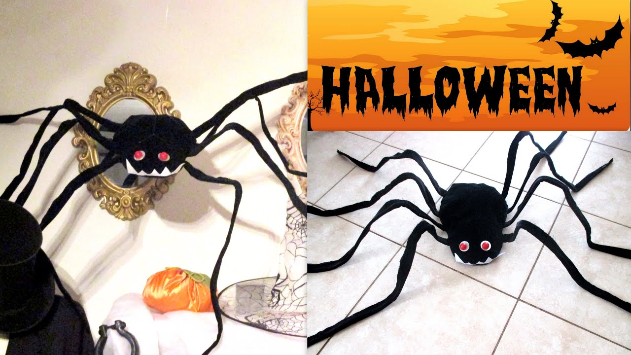 Tuto faire une araignee geante halloween diy youtube - Tuto deco halloween ...