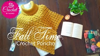 FALL TIME🍁 CROCHET PONCHO FOR ALL |☕THE CROCHET SHOP by NANNO