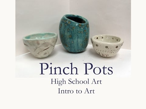 HS Art - Clay Pinch pot demo