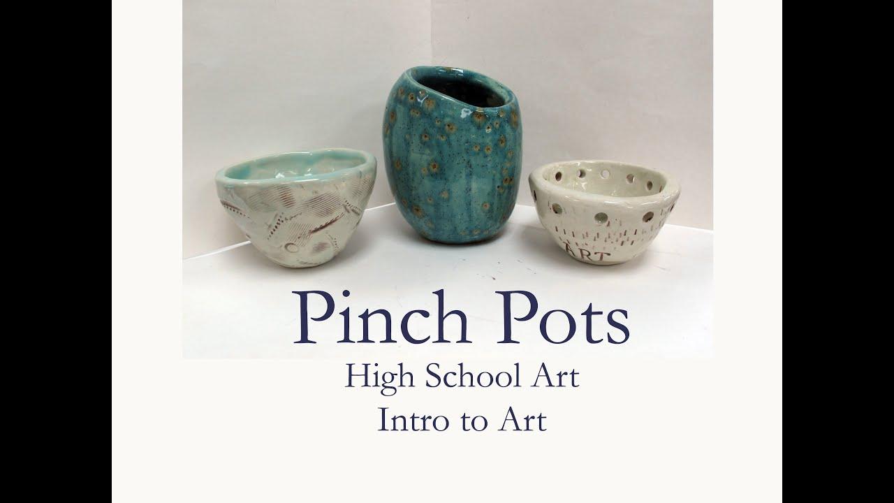 hs art clay pinch pot demo youtube