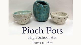 hs art clay pinch pot demo