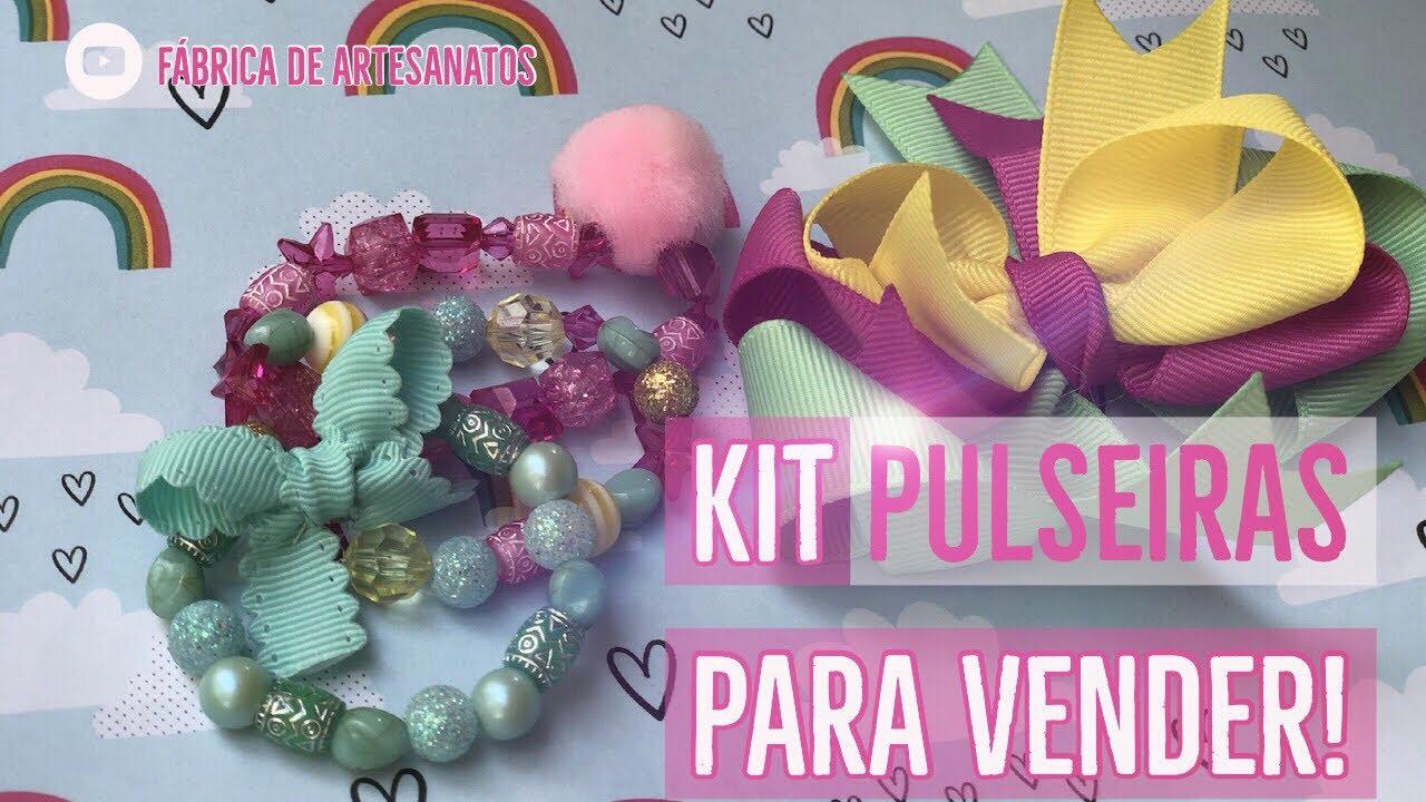 a57a72afc9991e Kit de Pulseiras Faça você mesmo! Faça e Venda 💸