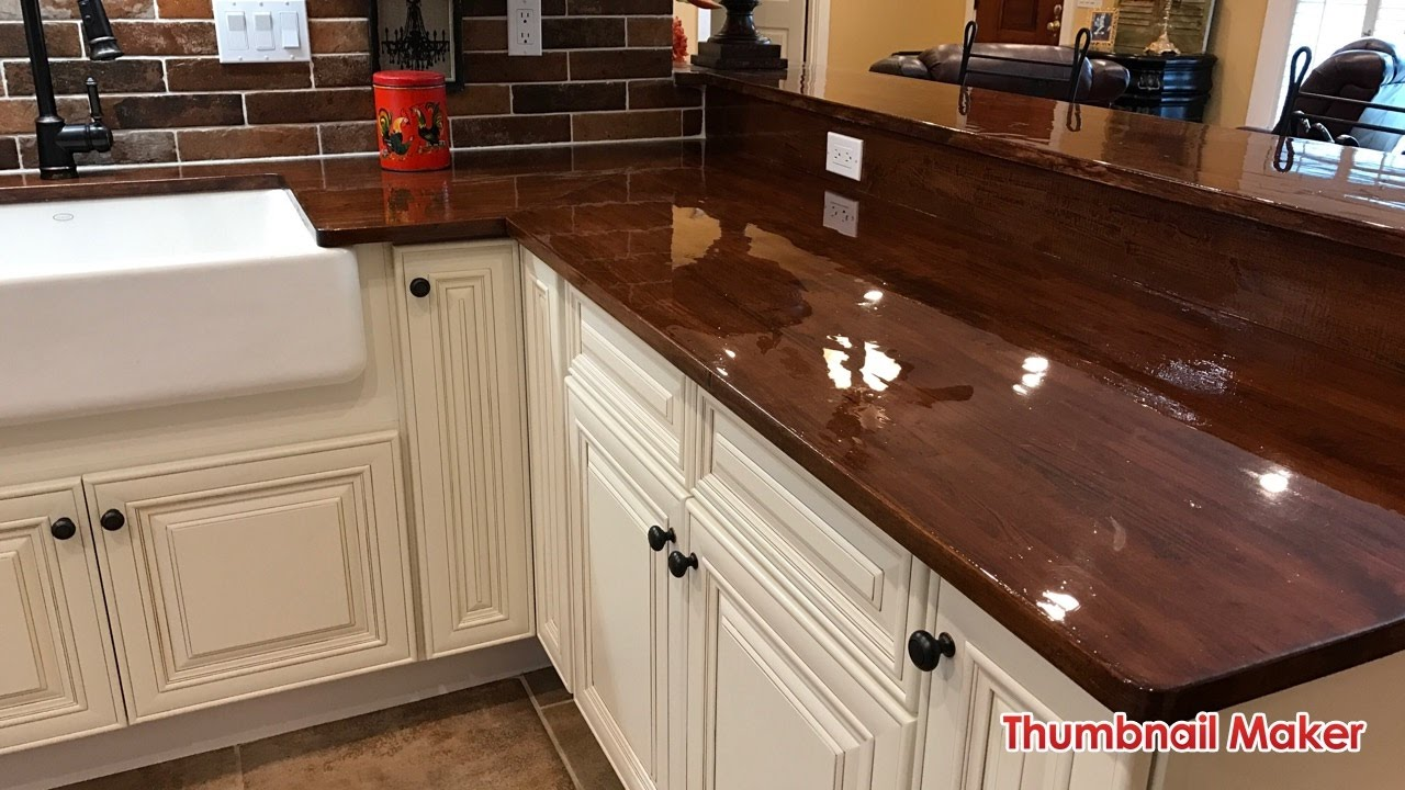 D i y do it yourself butcher block wood countertops for Installing butcher block countertops
