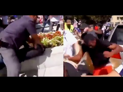 BLM Mob ATTACKS Walk Away Rally in Dallas, WA State Patrol SHUTS DOWN Protest, Antifa Activist Cries