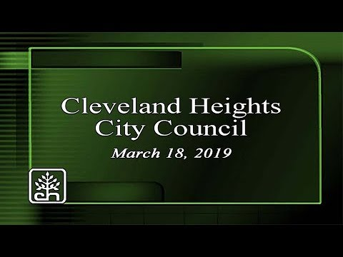Cleveland Heights City Council March 18, 2019