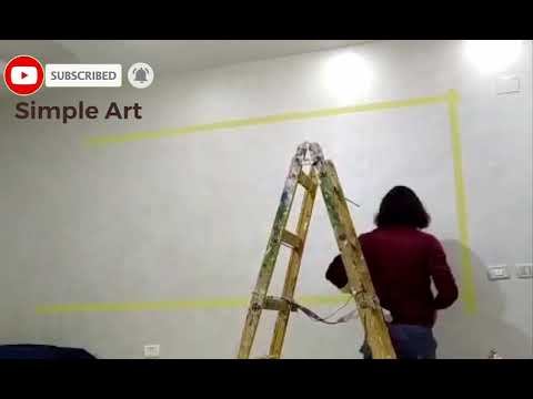 Drawing modern painting with easy and simple