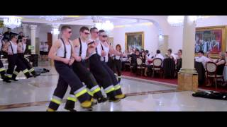 studniówka 2014 występ 3 LO (strażak-ratownik) ZSPD w Jordanowie