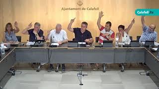 Ajuntament de Calafell: sessió plenària ordinària, 2 de juliol de 2018