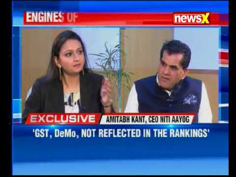 Amitabh Kant Exclusive on NewsX over jump in World Bak ranking