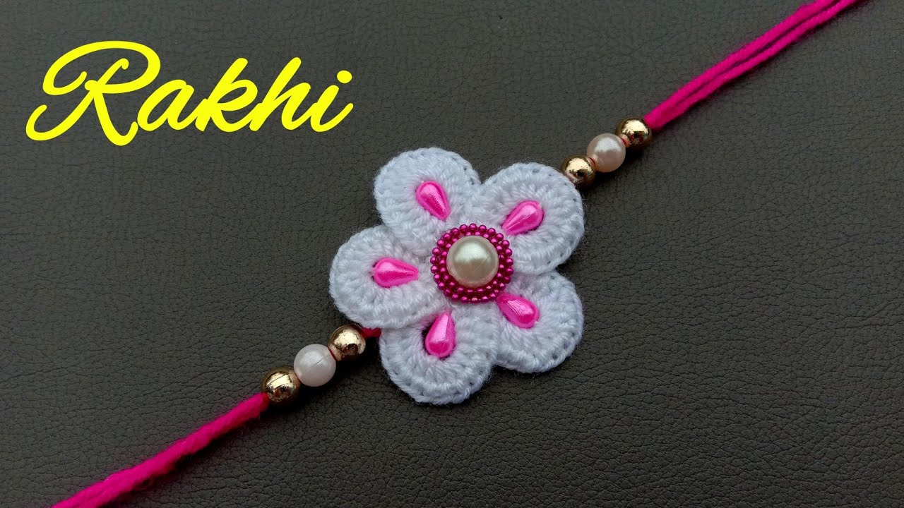 How To Make Rakhi At Home With Wool// Rakhi Making Competition Ideas// Useful & Easy