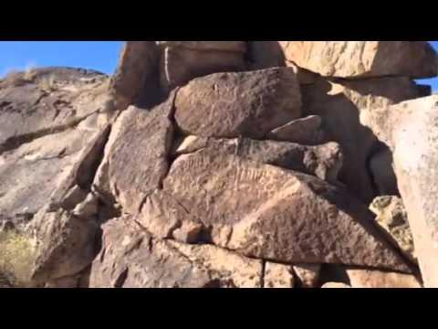 Petroglyph hike near Mammoth Lakes