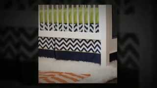 Carousel Designs Navy - Citron Zig Zag 2-Piece Crib Baby Bedding Set