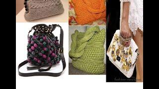 Вязанные сумки. Идеи для вязания крючком.Knitted bags . Ideas for crochet .