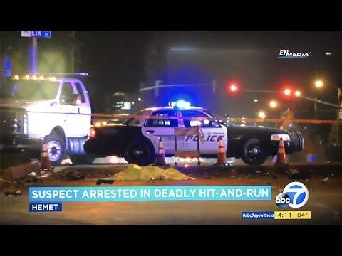 Hemet: Fatal Hit and Run Traffic Collision Leads to Arrest of Parolee