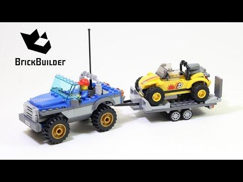 Lego City 60082 Dune Buggy Trailer - Lego Speed Build