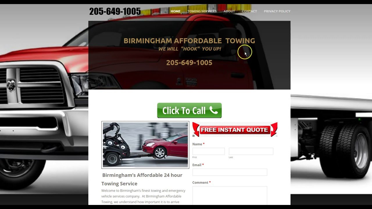 Towing Quote Birmingham Affordable Towing Wrecker Service Birmingham Alabama