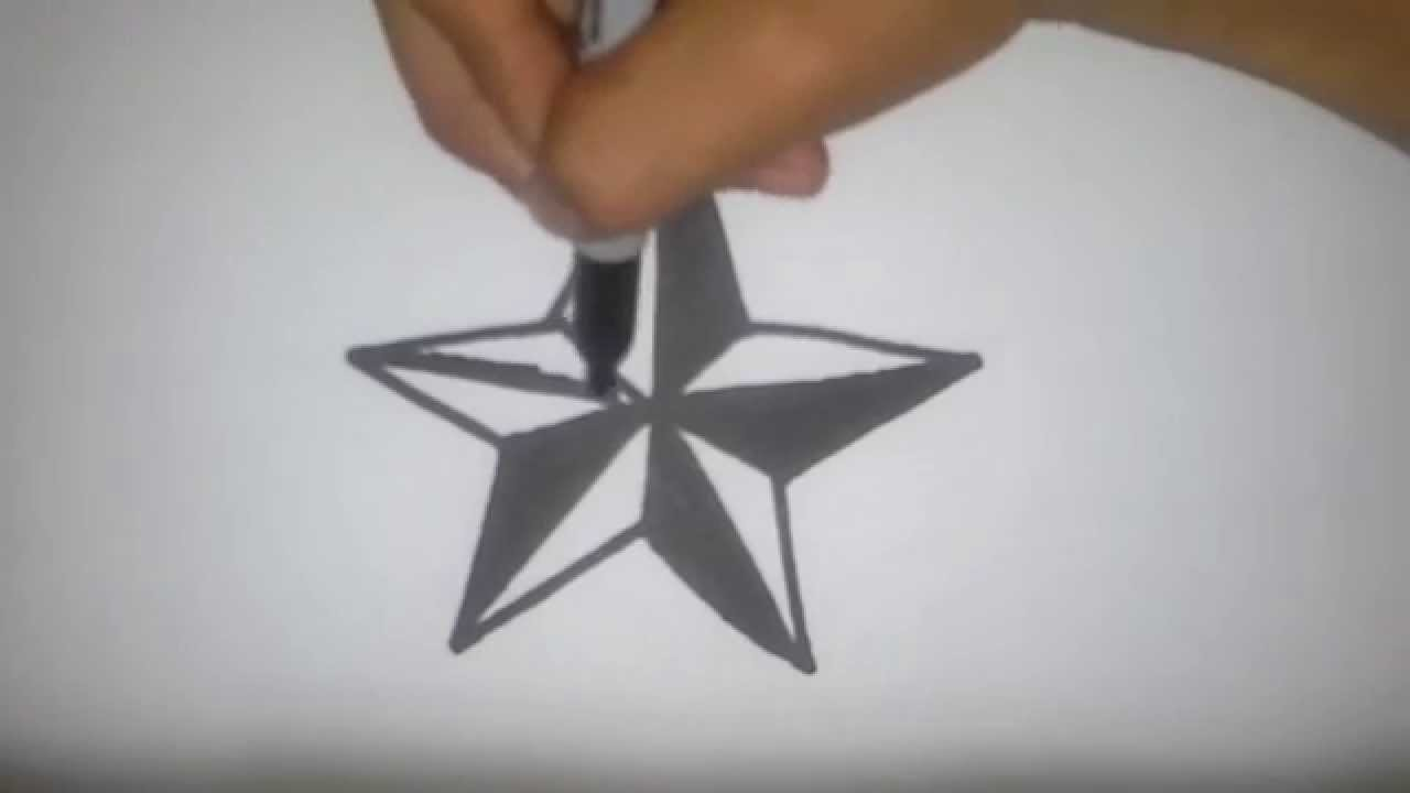 How To Draw A Nautical Star Youtube