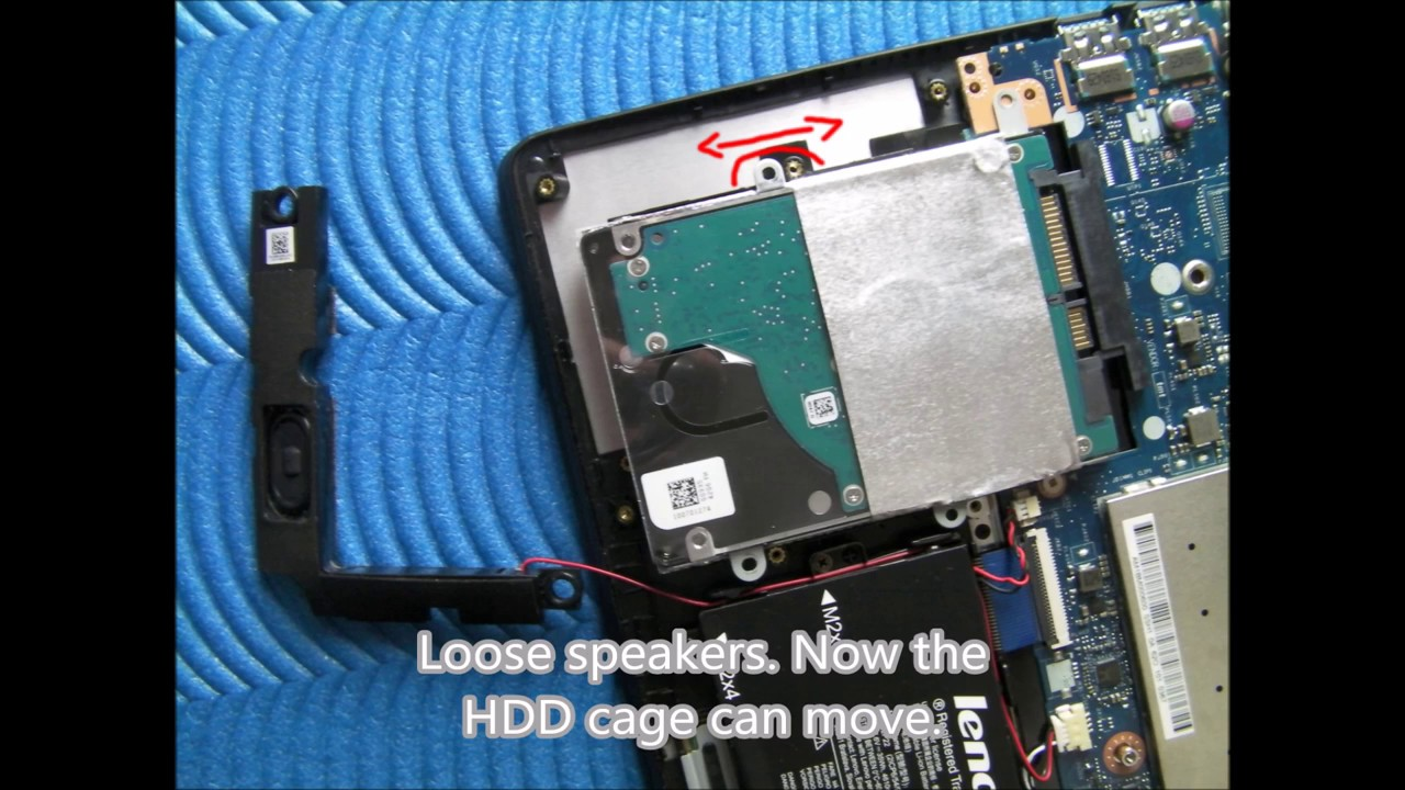 Lenovo IdeaPad 500S-13ISK & 510S-13ISK RAM & SSD replacement & disassembly  guide