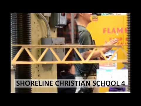 2013 Popsicle Stick Bridge Competition - Breaking the Bridges: Shoreline Christian School 4
