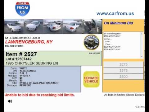 Salvage Autos for Sale at Car Auctions in Lexington KY