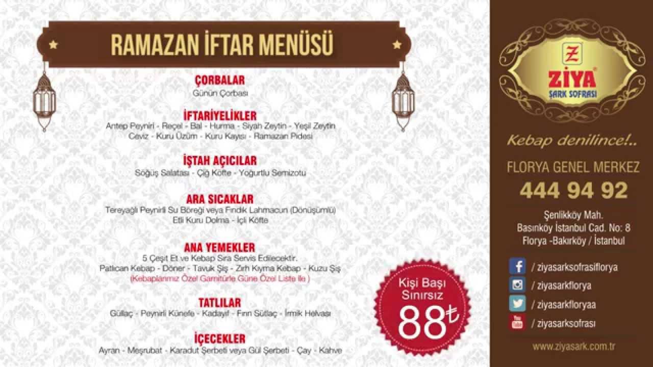 Ramazanda iftar menüsü nasıl olmalı