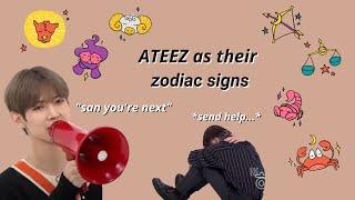 Ateez as their zodiac signs
